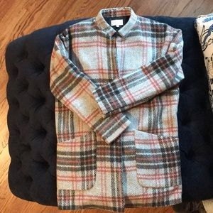 Like new Jolt over size blazer plaid jacket